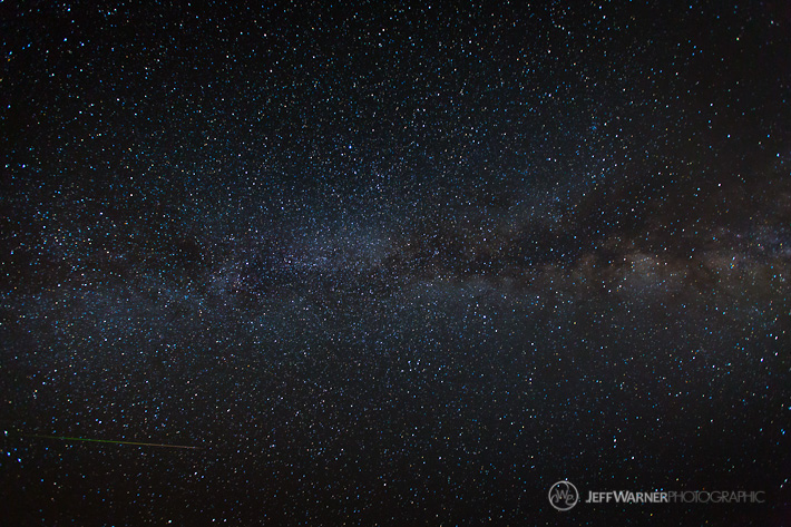 Milky Way and Perseid Meteor over Loveland Pass, CO.