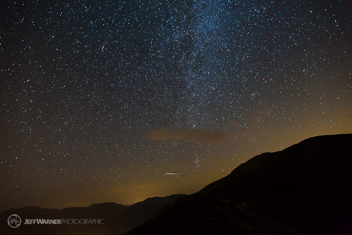 ISS and Meteor over Loveland Pass, CO