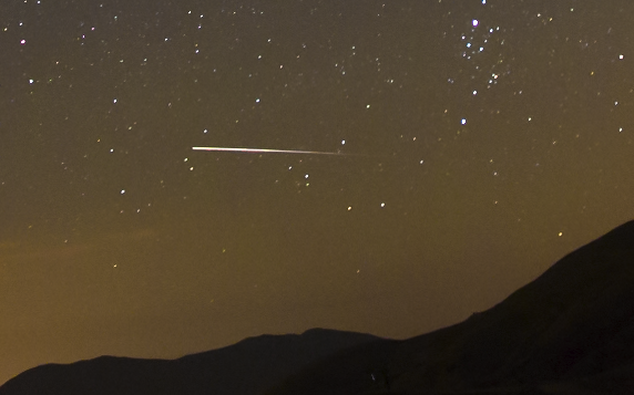2:1 crop of ISS over Loveland Pass, CO.