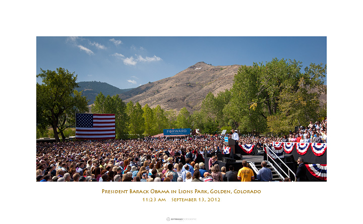 Commemorative print, President Barack Obama in Golden, CO 9/13/12