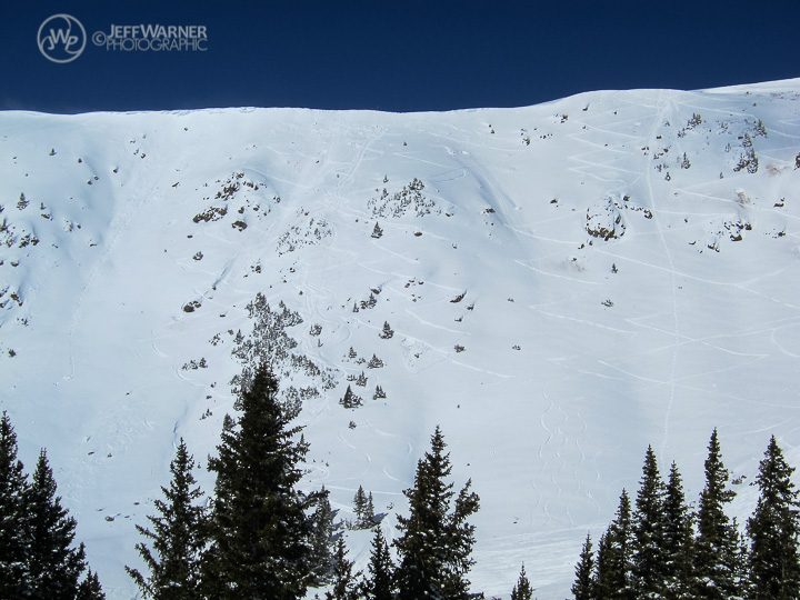 Montezuma Bowl two hours before the avalanche