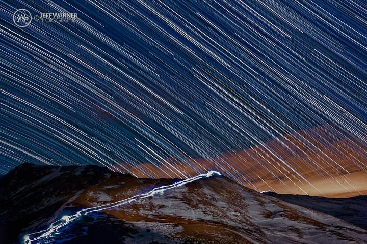 Milky Way time-lapse composite, Loveland Pass, CO