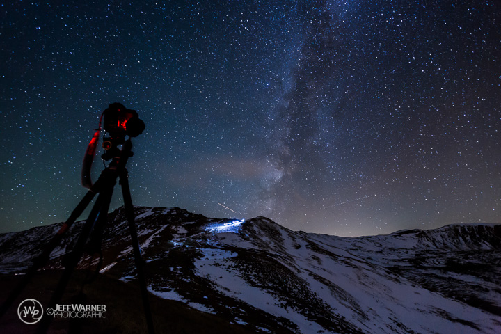 10/8/13: Hikers on Loveland Pass, CO beneath the Milky Way.