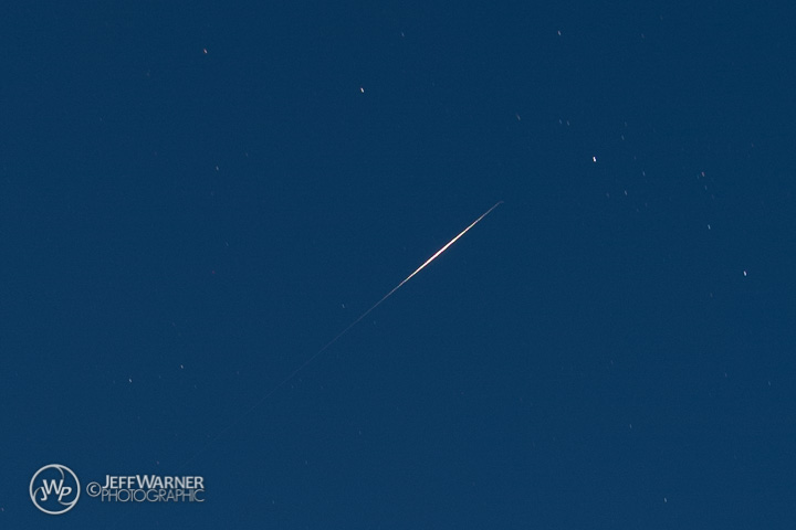 Iridium 14 flare over Golden, CO (crop)