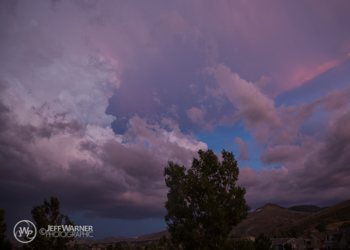 Cumulonimbus clouds over Golden, CO on 7/7/14.