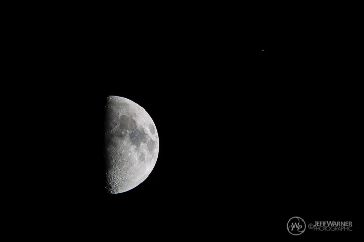 Moon and Mars as viewed from Keystone, CO, 7/5/14.