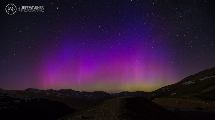 Aurora Borealis from Loveland Pass, CO, 6/22/15.