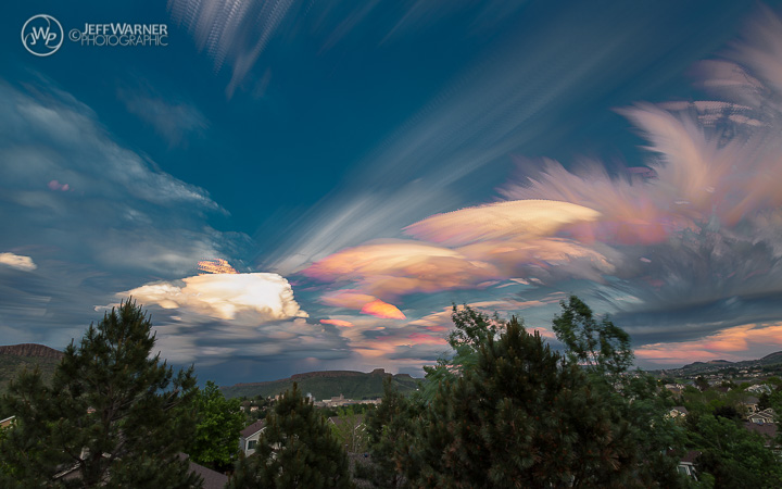 15 minute timelapse composite of clouds over Golden, CO, 6/4/15.