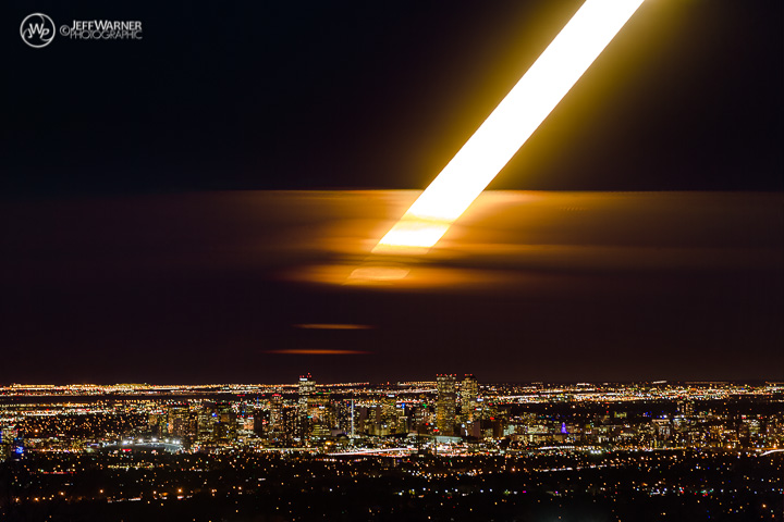 Time-lapse sequence of Super Moon rising over Denver 11/14/16